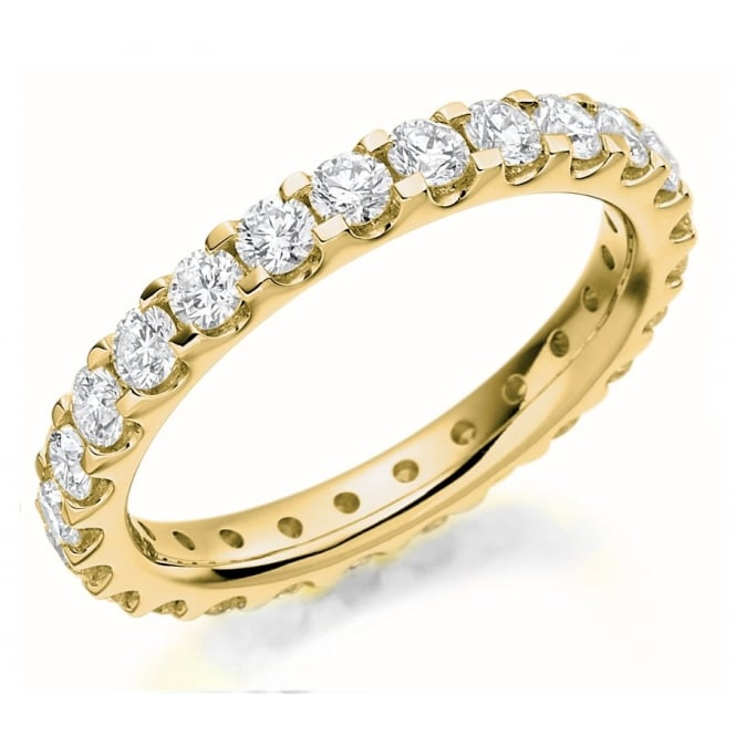 The Raphael Collection 18ct yellow gold 1.50ct round brill diamond full eternity ring.