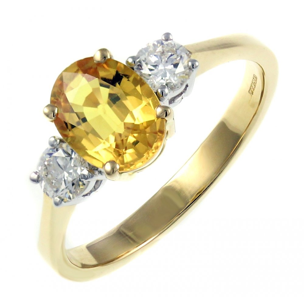 designer yellow uk ring sapphire silver handmade products maker modern gold and by