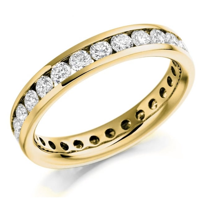 The Raphael Collection 18ct yellow gold 1.75ct round brill diamond full eternity ring.