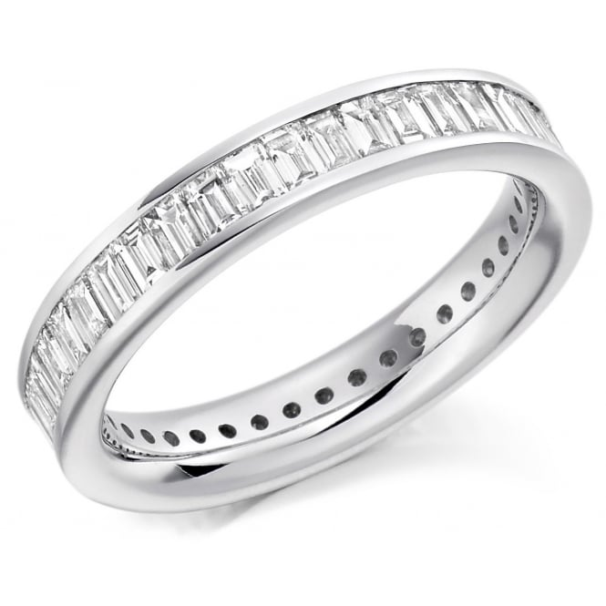 The Raphael Collection 18ct yellow gold 2.00ct baguette cut diamond full eternity ring.