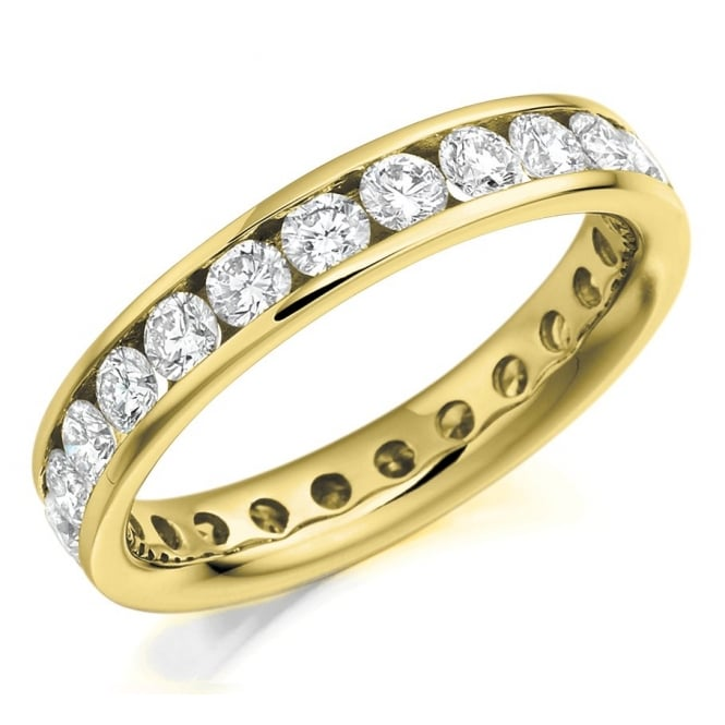 The Raphael Collection 18ct yellow gold 2.00ct round brill diamond full eternity ring.