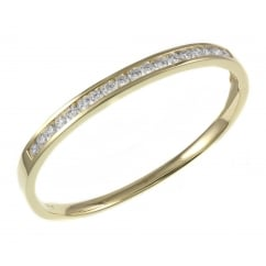18ct yellow gold 2.55ct round brilliant cut diamond bangle.