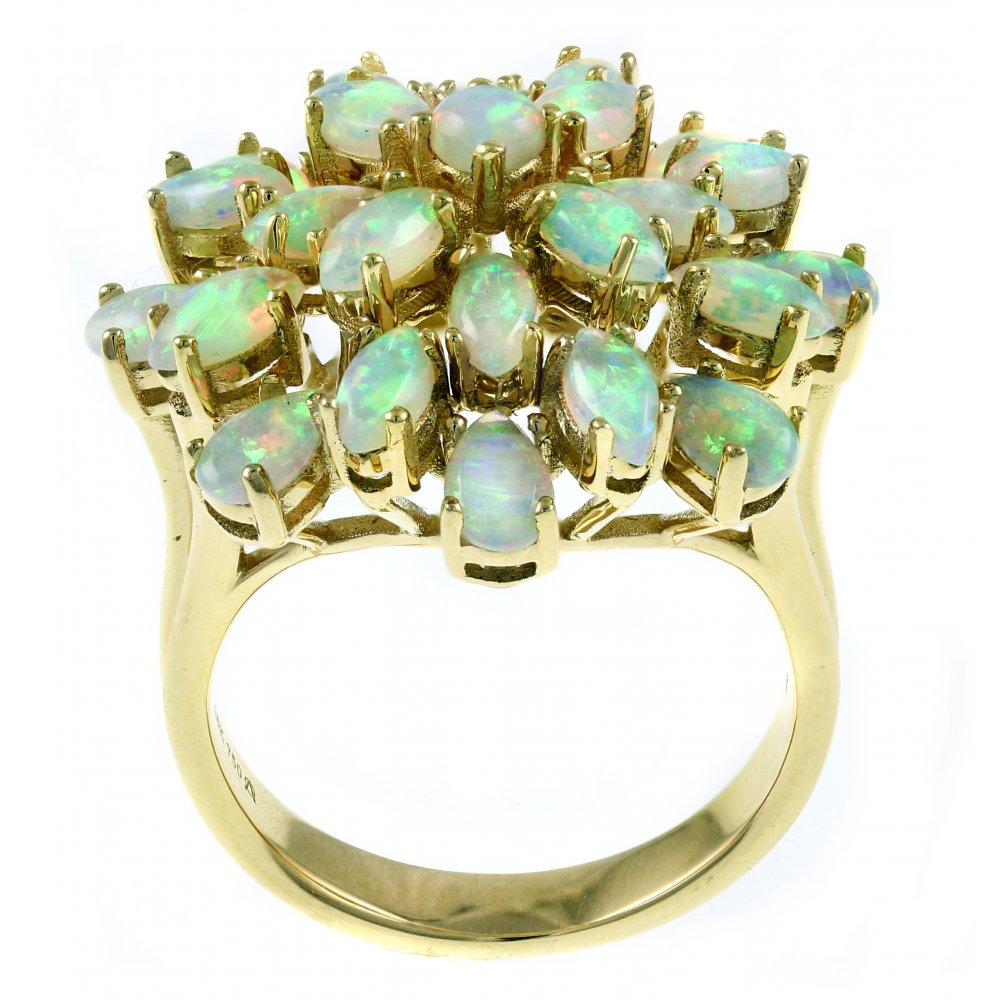 one ring engagement unique natural opal nile stewart martha rings weddings vert blue