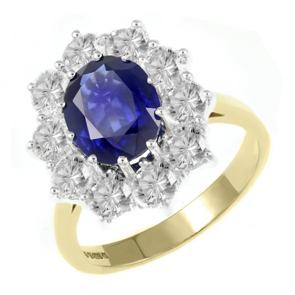 sapphire lab ring rings carat labsaph created blue