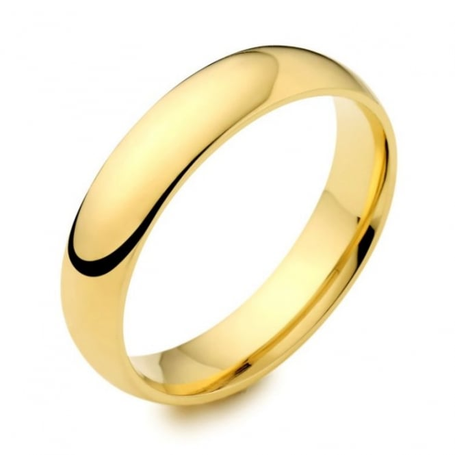Brown & Newirth 18ct yellow gold 5.00mm heavy court wedding band.