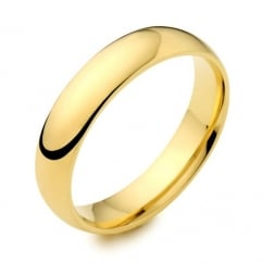 18ct yellow gold 5.00mm heavy court wedding band.