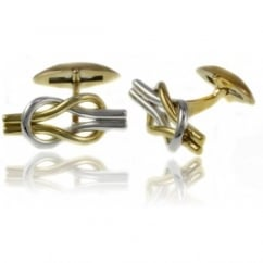 9ct knotted polished swivel cufflinks