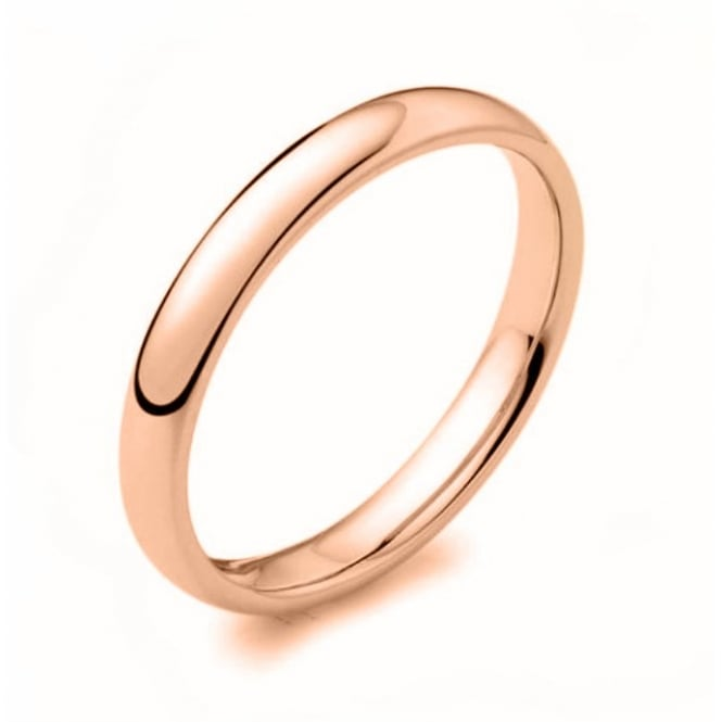 Brown & Newirth 9ct rose gold 2.50mm court wedding band.