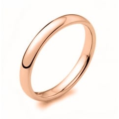 9ct rose gold 2.50mm court wedding band.