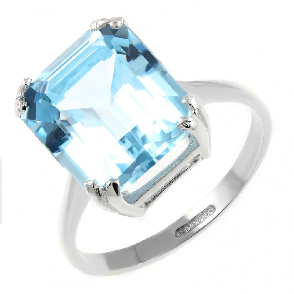 shop p ring topaz silver zirconia in rings blue cubic and sterling