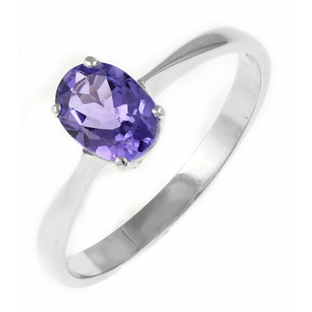 9ct white gold 7x5mm oval tanzanite ring jewellery from