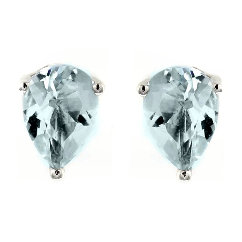 sterling aquamarine silver stud marine crystal earrings print products paw petley aqua
