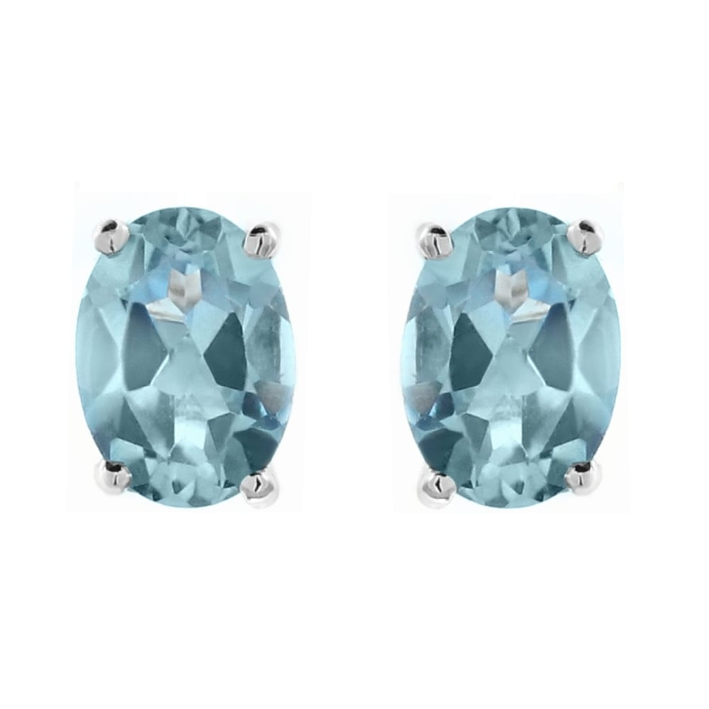 lilia nash stud studs aqua product in aquamarine marine white earrings gold