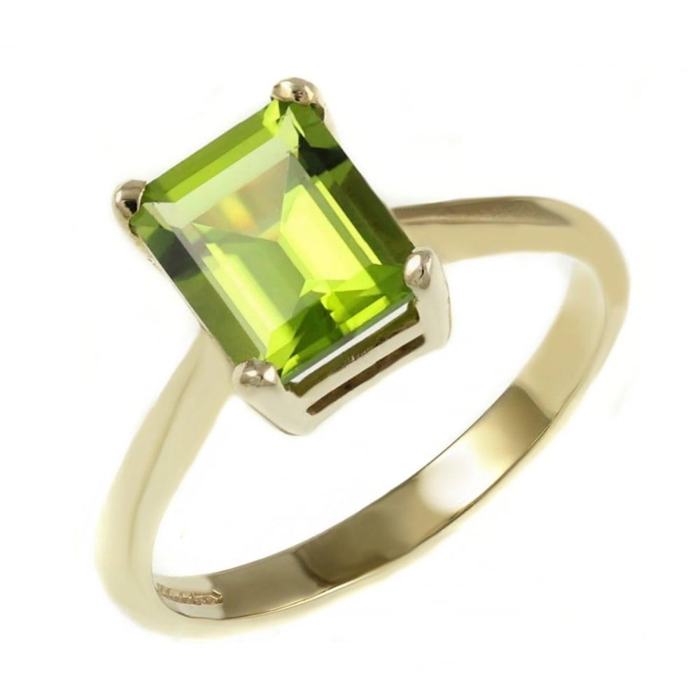 Peridot Diamond Eternity Ring