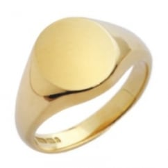 9ct yellow gold 12x11mm signet ring.