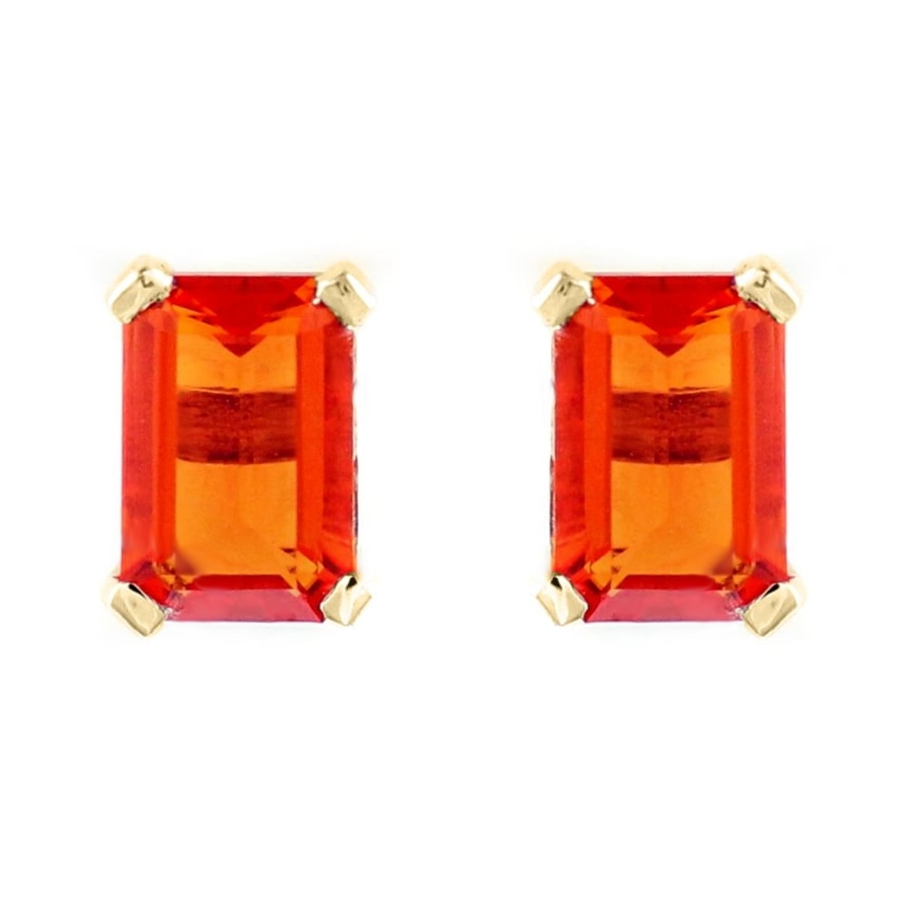 mandarin yellow and earrings gold studs cushion stud tsavorite diamond garnet