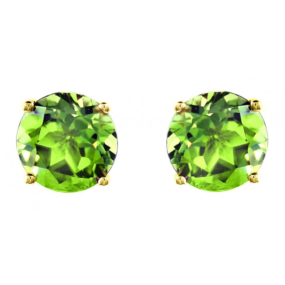 peridot stone studs pin sterling earrings silver ravish design jewelry