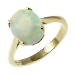 e736d3dcc 9ct yellow gold 9mm x 7mm oval natural opal ring