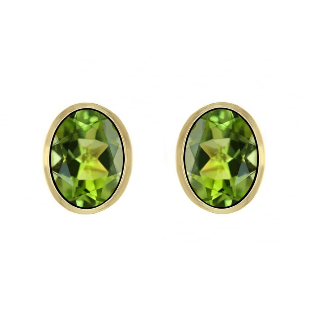 pandora stud estore en earrings peridot august birthstone