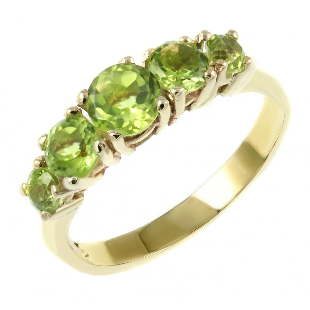 in fine natural birthstone ring gemstone wedding peridot gift jewelry silver cushion women leige for august cut from item rings green