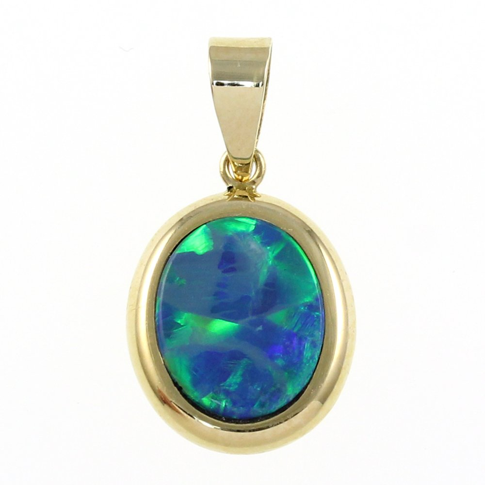 handmade in opal pendant gold boulder jewelry sale dreamtime yellow flashopal blue
