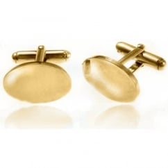 9ct yellow gold oval polished swivel cufflinks.