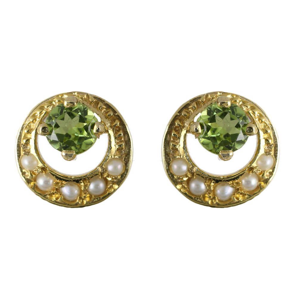 products solid gold earrings peridot natural dsc designs erok stud ps