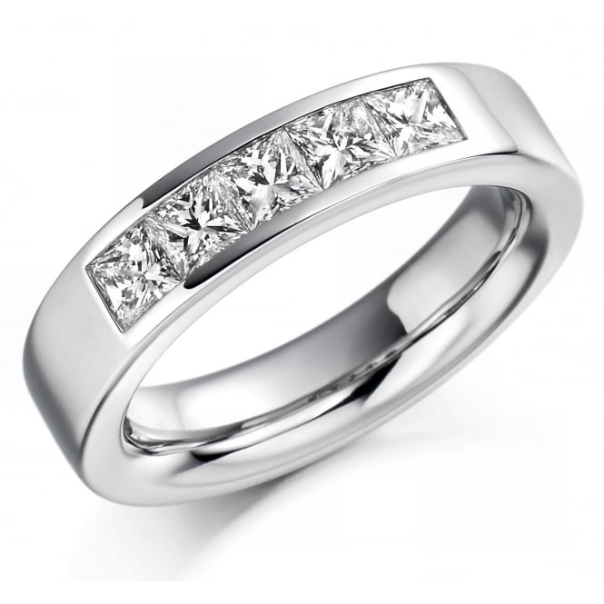 The Raphael Collection Palladium 1.00ct princess cut diamond gents ring.