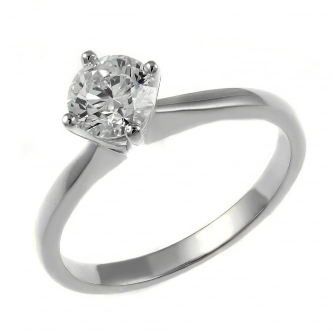 Platinum 0.10ct F VS2 GIA round brilliant cut diamond ring.