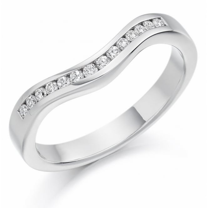 The Raphael Collection Platinum 0.16ct round diamond shape-to-fit half eternity ring.
