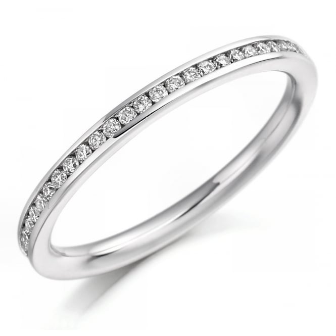 The Raphael Collection Platinum 0.20ct round brilliant cut diamond half eternity ring.