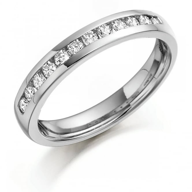 Brown & Newirth Platinum 0.20ct round brilliant diamond channel eternity ring.