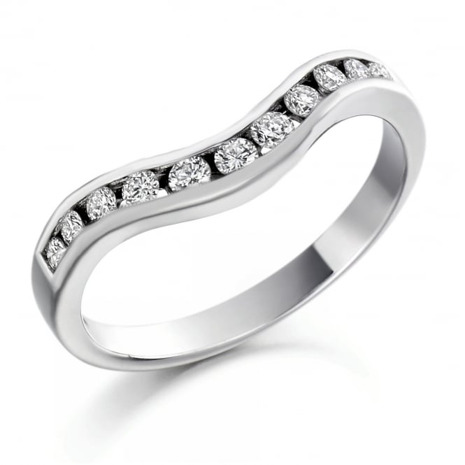 The Raphael Collection Platinum 0.27ct round diamond shape-to-fit half eternity ring.