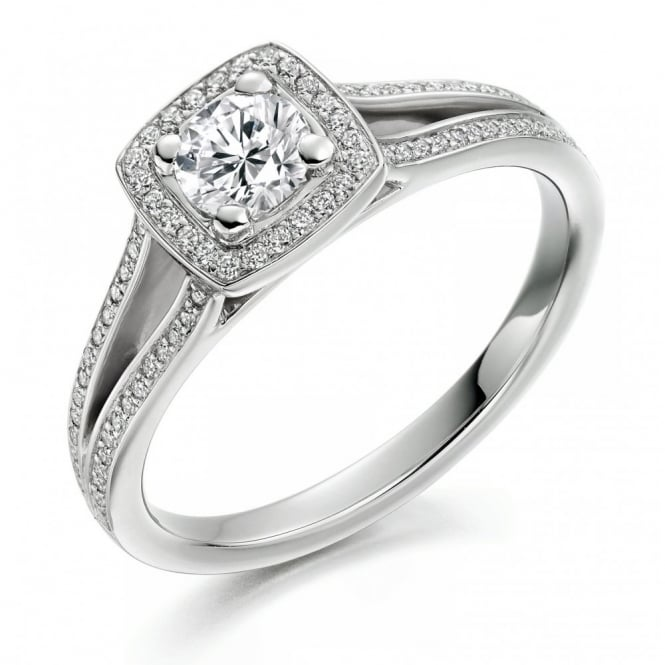The Raphael Collection Platinum 0.30ct H VS2 IGI round cut diamond solitaire ring