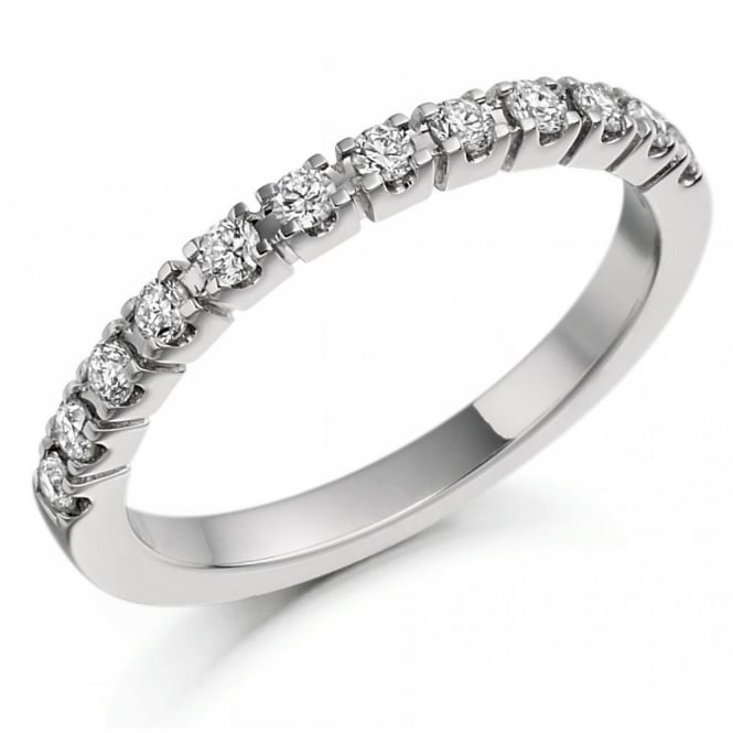 The Raphael Collection Platinum 0.33ct round brilliant cut diamond half eternity ring.