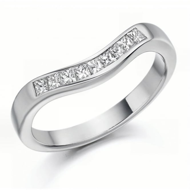 The Raphael Collection Platinum 0.35ct princess diamond shape-to-fit eternity ring.