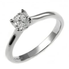 Platinum 0.36ct D VS1 EGL round brilliant cut diamond ring.