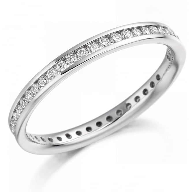 The Raphael Collection Platinum 0.42ct round brilliant cut diamond full eternity ring.
