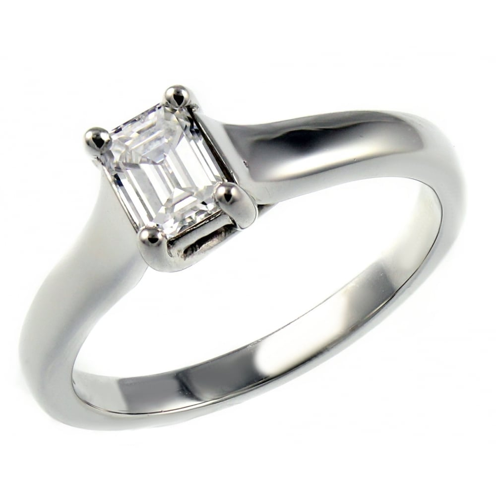 by emerald natalie edge flat diamonds solitaire cathedral in ring engagement platinum diamond cut product