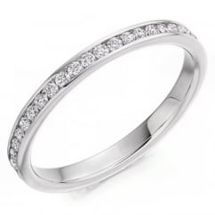 Platinum 0.50ct round brilliant cut diamond full eternity ring.