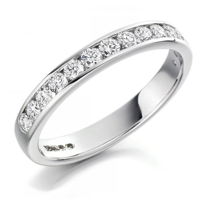 The Raphael Collection Platinum 0.50ct round brilliant cut diamond half eternity ring.