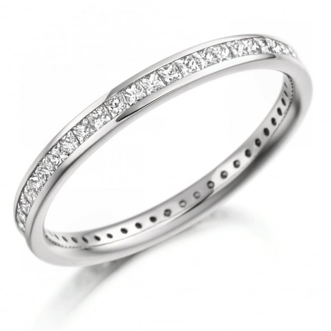 The Raphael Collection Platinum 0.62ct princess cut diamond full eternity ring.