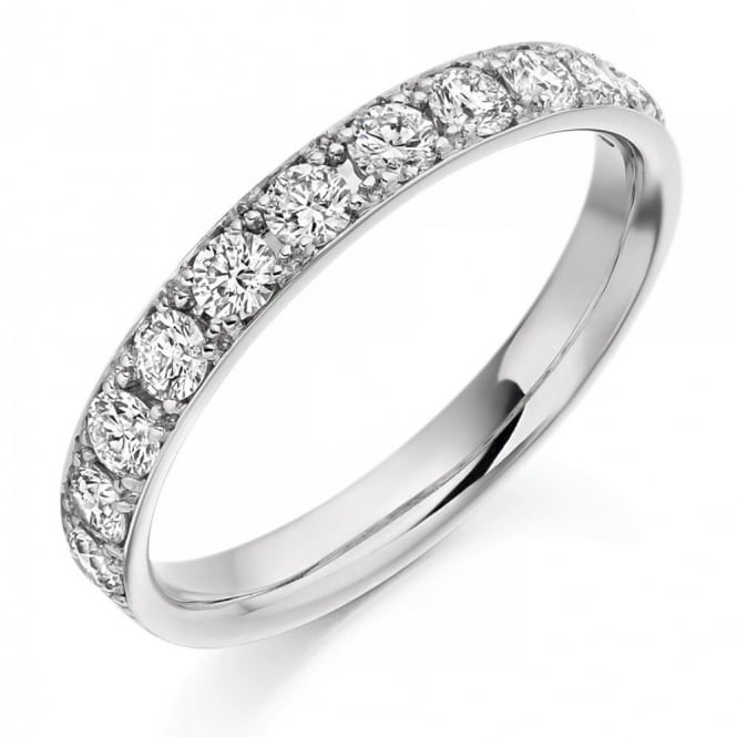 The Raphael Collection Platinum 0.65ct round brilliant cut diamond half eternity ring.