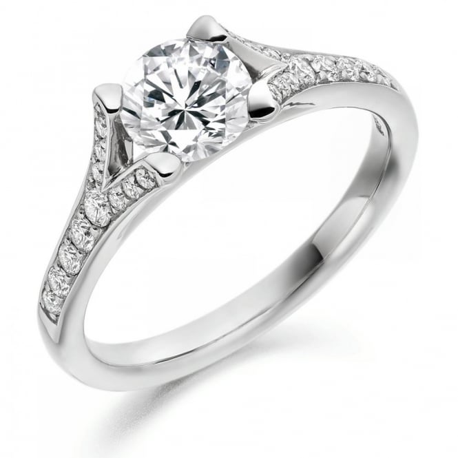 The Raphael Collection Platinum 0.70ct D VS2 GIA round diamond solitaire ring.
