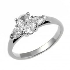 Platinum 0.71ct D VS1 GIA oval diamond solitaire ring.