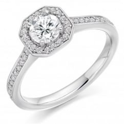 Platinum 0.75ct G VS2 IGI round brill diamond solitaire ring