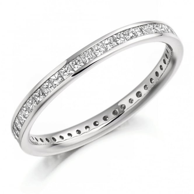 The Raphael Collection Platinum 0.75ct princess cut diamond full eternity ring.