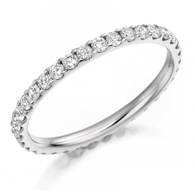 The Raphael Collection Platinum 0.75ct round brilliant cut diamond full eternity ring.