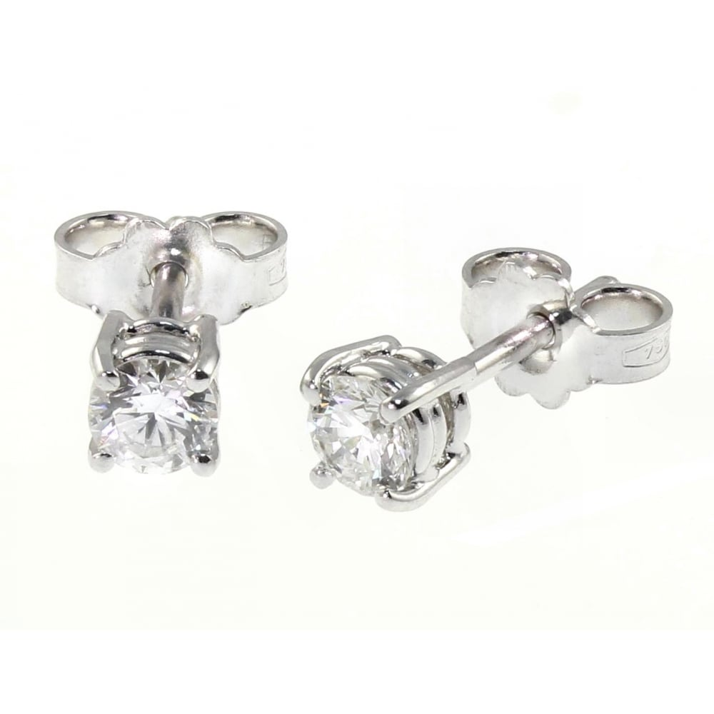 Platinum 0 83ct D Si1 Round Brill Diamond Stud Earrings