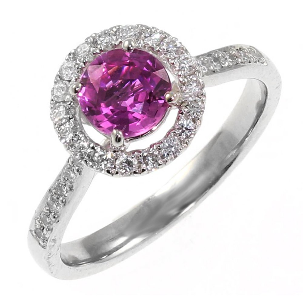cut round oval stone an with brilliant nodename setting white currentpage gold yellow diamond pink rings hettich sapphire ring and